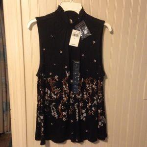 Lucky Brand Sleeveless Elastic Collar Tunic Size L